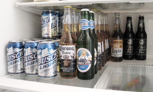 Fridge full a beer
