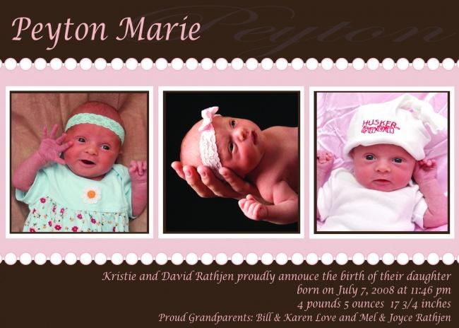 Peyton Birth Announcements