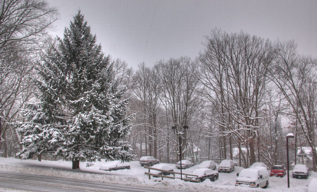 Condo lot snowy