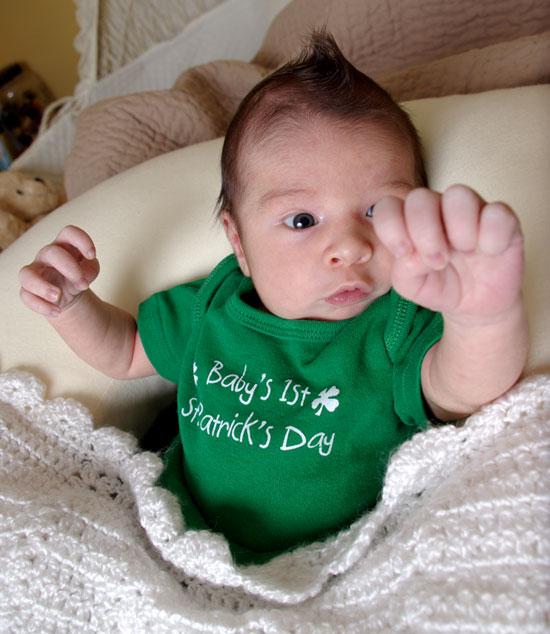 Noahs 1st St Patricks Day - PARTY!!