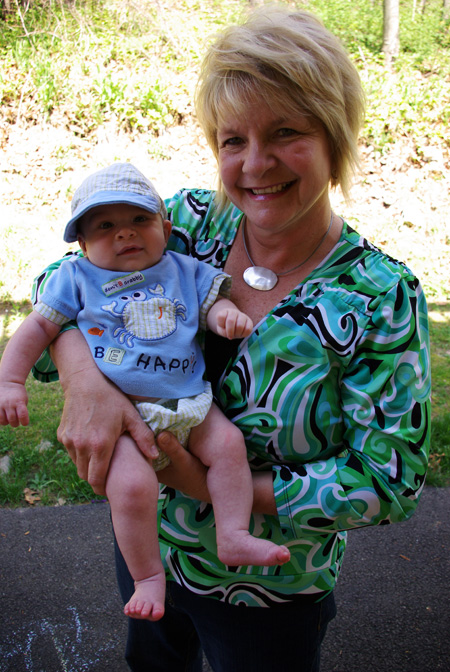 noah with hat and grandma