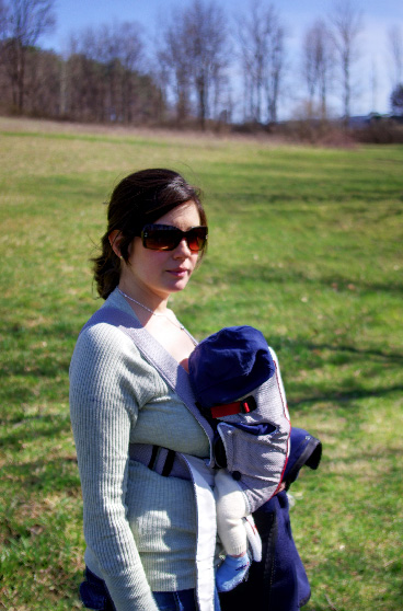 Noah and momma hiking